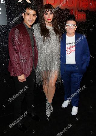 Telly Leung, Kesha and Lea DeLaria