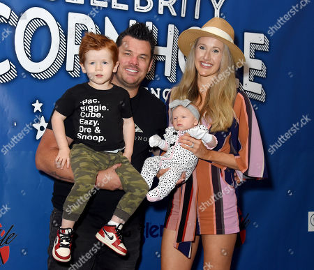 DeeJay Silver, wife Jenna Perdue, daughter Davis Perdue and son Wake Perdue