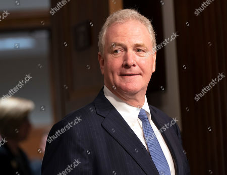 Senator Chris Van Hollen (Democrat from Maryland) prepares to introduce General John W. Raymond, USAF to the Senate Armed Service Committee for reappointment to the grade of general and to be Commander, United States Space Command and Commander, Air Force Space Command