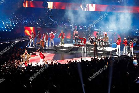 Maroon 5, Big Boi, and Sleepy Brown perform during halftime of the NFL Super Bowl 53 football game between the Los Angeles Rams and the New England Patriots, in Atlanta. The Patriots won 13-3