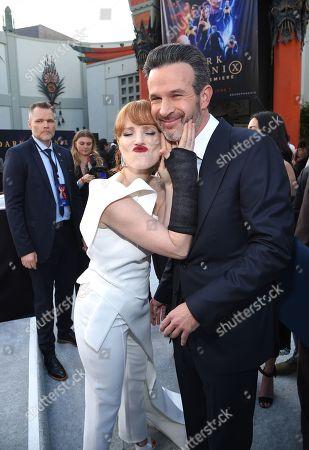 Jessica Chastain and Simon Kinberg