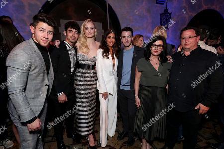 Stock Image of Nick Jonas, Joe Jonas, Sophie Turner, Danielle Deleasa, Kevin Jonas, Denise Miller-Jonas, Paul Kevin Jonas, Sr.