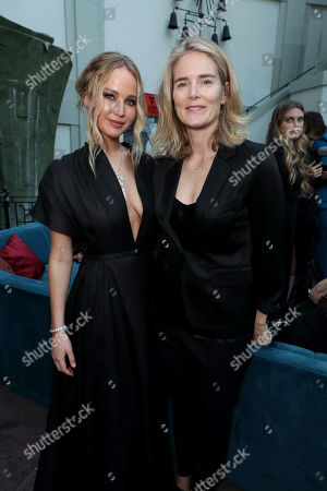 Stock Picture of Jennifer Lawrence, Emma Watts, Vice Chairman of Twentieth Century Fox Film,