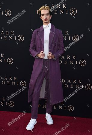 "Kodi Smit-McPhee arrives at the Los Angeles premiere of ""Dark Phoenix"" at TCL Chinese Theatre on"