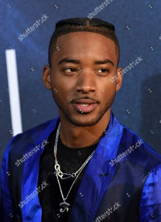 """Algee Smith, a cast member in the HBO drama series """"Euphoria,"""" poses at the premiere of the series at the ArcLight Hollywood, in Los Angeles"""