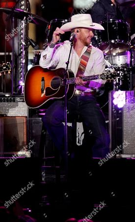 Cody Johnson performs at CMT Cross Roads Brooks & Dunn and Friends live taping on Broadway, in Nashville, Tenn