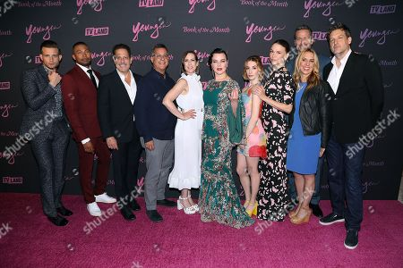 Stock Photo of Cast of YOUNGER with Darren Star (Creator, Exec. Prod), Keith Cox (Pres; TV Land), Tanya Giles (GM; TV Land) and Kent Alterman (Pres; TV Land)