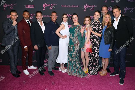 Cast of YOUNGER with Darren Star (Creator, Exec. Prod), Keith Cox (Pres; TV Land), Tanya Giles (GM; TV Land) and Kent Alterman (Pres; TV Land)