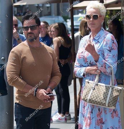 Mattia Dessi and Brigitte Nielsen