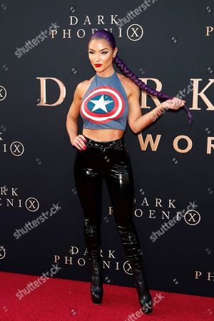Eva Marie arrives for the world premiere of Dark Phoenix at the TCL Chinese Theatre IMAX in Hollywood, Los Angeles, California, USA 04 June 2019. The movie opens in the US 07 June 2019.