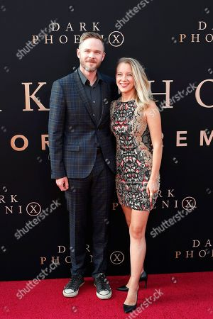 Shawn Ashmore (L) and guest arrive for the world premiere of Dark Phoenix at the TCL Chinese Theatre IMAX in Hollywood, Los Angeles, California, USA 04 June 2019. The movie opens in the US 07 June 2019.