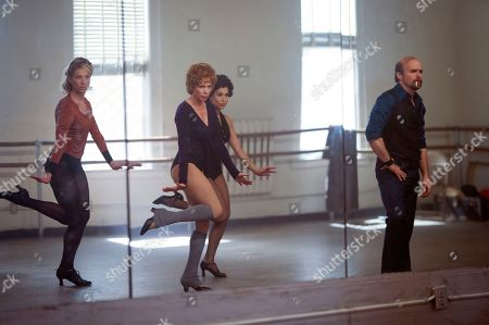 Stock Image of Heather Lang as Sandy, Michelle Williams as Gwen Verdon, Bianca Marroquin as Chita Rivera and Sam Rockwell as Bob Fosse