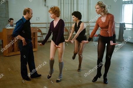 Stock Picture of Sam Rockwell as Bob Fosse, Michelle Williams as Gwen Verdon, Bianca Marroquin as Chita Rivera and Heather Lang as Sandy