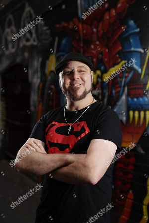 Comic Artist Tom Taylor (Marvel) poses for portraits in AC/DC Lane in Melbourne, 05 June 2019. Australia's largest pop culture gathering, Oz Comic-Con, takes place in Melbourne on the 8th and 9th of June, at the Melbourne Convention and Exhibition Centre.