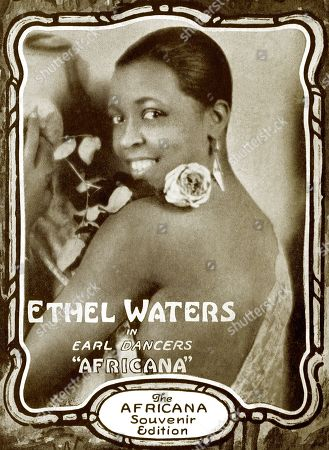 Ethel Waters (1896-1977), African American performer and singer, detail from sheet music for Chloe (Song of the Swamp), circa 1928.