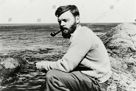 Stock Image of Farley Mowat (b. 1921) Canadian conservationist and author of Woman in the Mists: The Story of Dian Fossey and the Mountain Gorillas of Africa (1987).