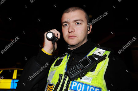 Editorial image of Supercop Sergeant Ali Livingstone, Britain's most effective police officer on Night Patrol Ipswich, Britain - 21 Oct 2009