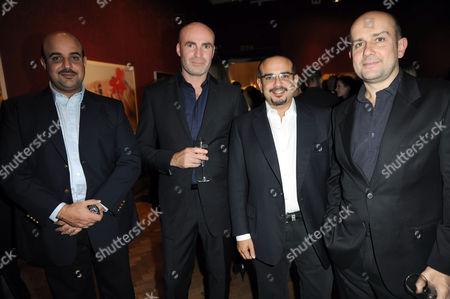Sheikh Abdulla bin Hamad Al Khalifa, Jason Brooks, Prince Salman and Marc Quinn
