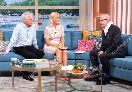 Phillip Schofield and Holly Willoughby with Harry Hill