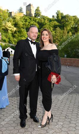 Prince Alexander zu Schaumburg-Lippe with Freandin Mahkameh