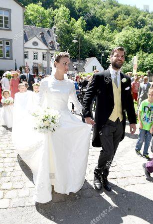 Prince Casimir zu Sayn-Wittgenstein-Sayn with bride Princess Alana