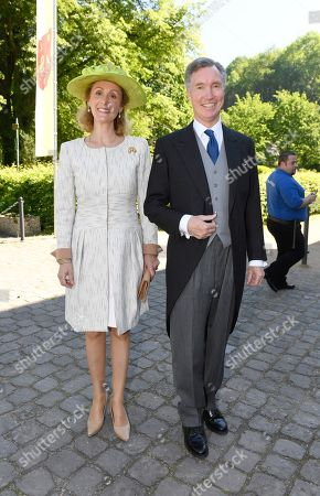 Stock Image of Hereditary Grand Duke Guillaume of Luxembourg von Luxemburg with Mrs Princess Sibilla of Luxembourg