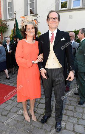 Princess Alexandra zu Sayn - Wittgenstein - Sayn with Graf Stefano Hunyady von Kethely