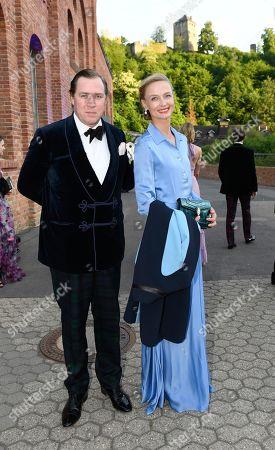 Stock Picture of Princess Vanessa zu Sayn-Wittgenstein-Berleburg with Pieter Mulier