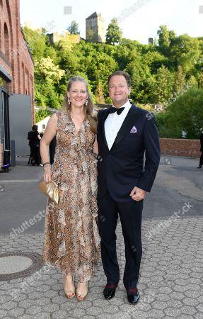 Stock Photo of Sebastian von Ribbentrop with Mrs Isabelle