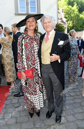 Stock Image of Wendelin von Boch-Galhau with Mrs Brigitte