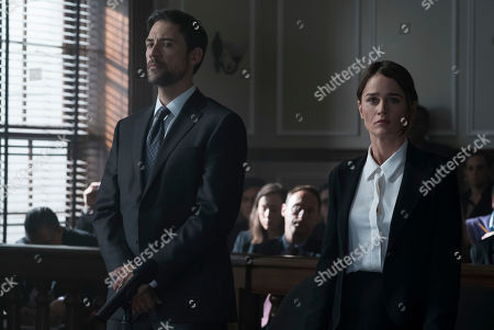 Adam Rayner as Matthew Collier and Robin Tunney as Maya Travis
