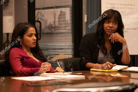 Stock Picture of Mouzam Makkar as Loni Kampoor and Merrin Dungey as CJ Emerson