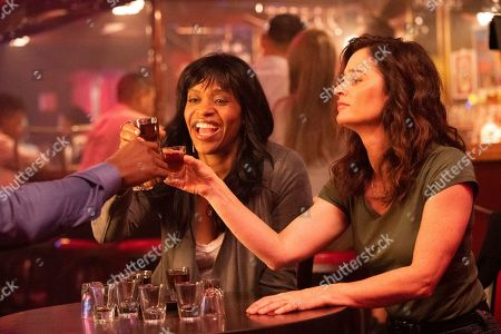 Merrin Dungey as CJ Emerson and Robin Tunney as Maya Travis