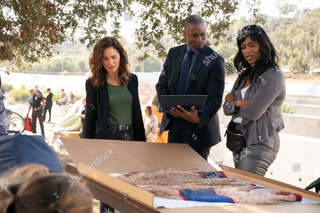 Robin Tunney as Maya Travis, Robbie Jones as Detective Vincent North and Merrin Dungey as CJ Emerson