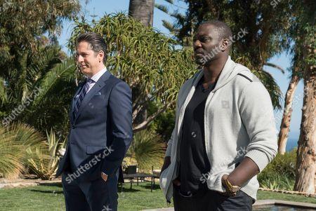 Scott Cohen as Ezra Wolf and Adewale Akinnuoye-Agbaje as Severen 'Sevvy' Johnson