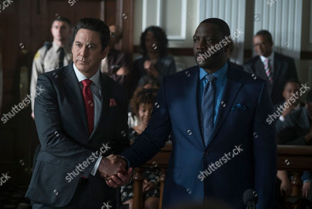Stock Photo of Scott Cohen as Ezra Wolf and Adewale Akinnuoye-Agbaje as Severen 'Sevvy' Johnson
