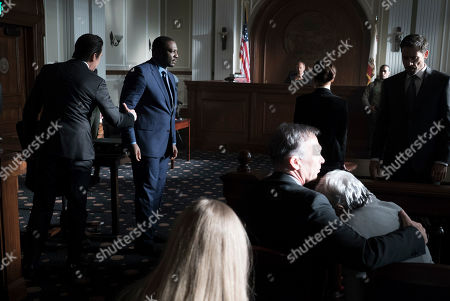 Stock Image of Adewale Akinnuoye-Agbaje as Severen 'Sevvy' Johnson and Adam Rayner as Matthew Collier