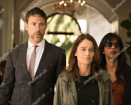 Stock Photo of Adam Rayner as Matthew Collier, Robin Tunney as Maya Travis and Merrin Dungey as CJ Emerson