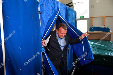 Danish Prime Minister Lars Lokke Rasmussen from the Liberal Party casts his vote during the parliamentary elections, at Nyboder School in Copenhagen, Denmark, 05 June 2019. Denmark is hading to the polls to elect a new parliament, the Folketing.