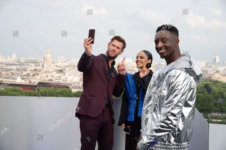 Chris Hemsworth, Tessa Thompson and Ahmed Sylla