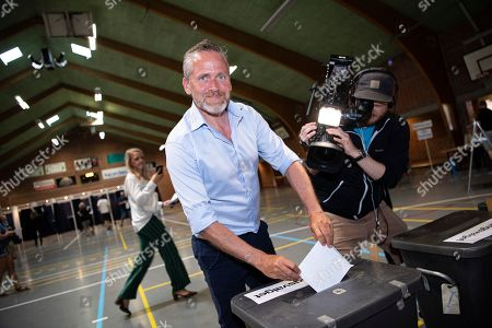 Foreign Minister Anders Samuelsen, Leader of Danish party Liberal Alliance, casts his vote at his local polling station on Stensballe School in Horsens, Denmark, 05 June 2019. Denmark is heading to the polls to elect a new parliament, the Folketing.