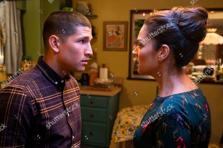 Danny Ramirez as Mario Martinez and Paula Garces as Geny Martinez