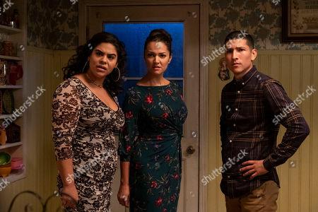 Jessica Marie Garcia as Jasmine, Paula Garces as Geny Martinez and Danny Ramirez as Mario Martinez