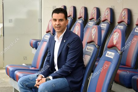 Miguel Angel Sanchez ?Michel?, the new head coach of SD Huesca, poses for photographs during his presentation in Huesca, Spain, 05 June 2019. Huesca will play in the Spanish Segunda Division next season.