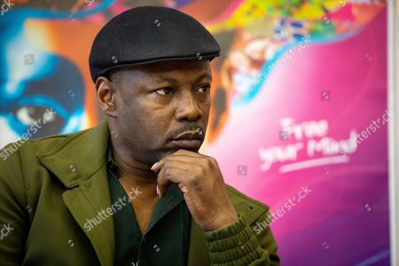 MC Solaar during a press conference for the music festival Solidays which occurs on the weekend of 21 June