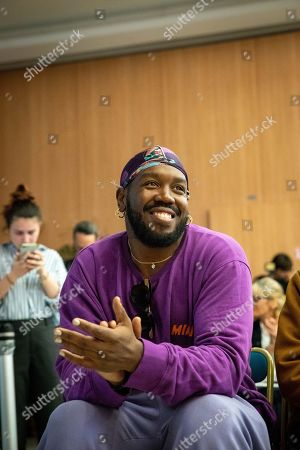 Kiddy Smile during a press conference for the music festival Solidays which occurs on the weekend of 21 June