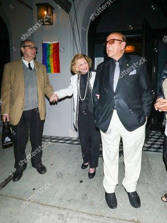 Stock Image of Clive Davis and Barbara Davis at Craig's Restaurant