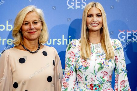 Ivanka Trump (R) poses next to Sigrid Kaag (L), Dutch Minister for Foreign Trade and Development Cooperation as they arrive at the World Forum for Global Entrepreneurship Summit (GES), in the Hague, Netherlands, 05 June 2019. The daughter and advisor of US President Donald Trump participates in the closing event and talks about the rights of women worldwide.