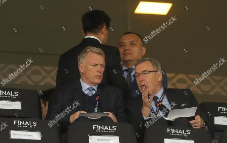 Stock Image of David Moyes in the stands