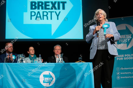 Paul Oakden, Brexit Party Campaign Manager for the East, Annunziata Rees-Mogg, Mike Greene for Peterborough, and Ann Widdecombe